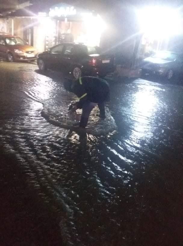 ورشات دائرة الصيانة تعمل على مدار الساعة خلال العاصفة المطرية