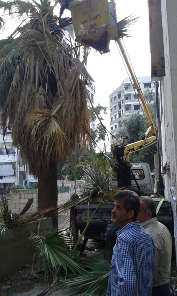 أعمال صيانة لأجهزة الإنارة في المدينة