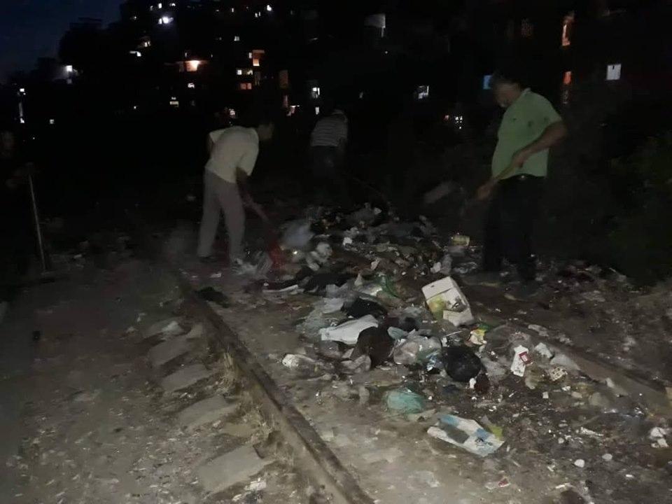 حملات النظافة متواصلة في جميع أحياء المدينة