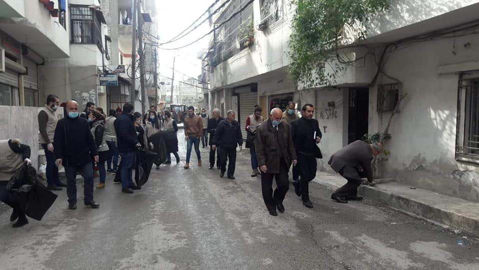 حملة نظافة في حي الدعتور