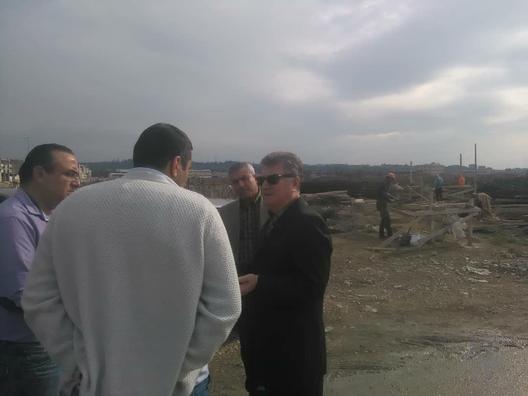جولة تفقدية لرئيس مجلس المدينة على المشاريع في المنطقة الصناعية الجديدة