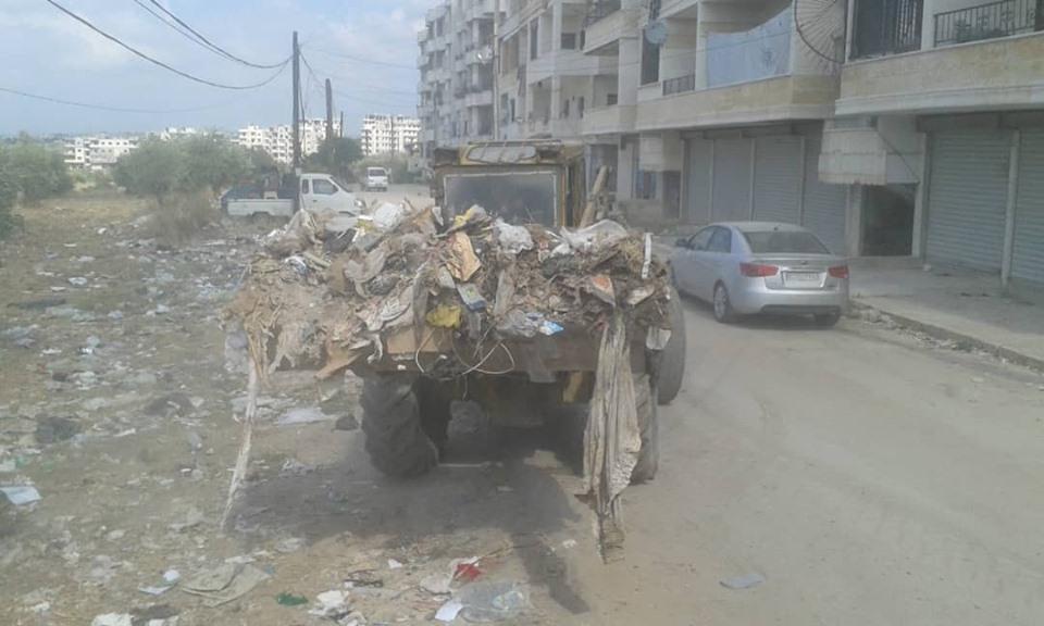 حملة نظافة في حي سقوبين