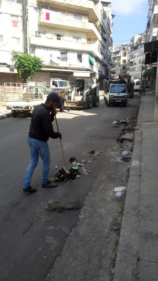 حملة نظافة في حي سكنتوري