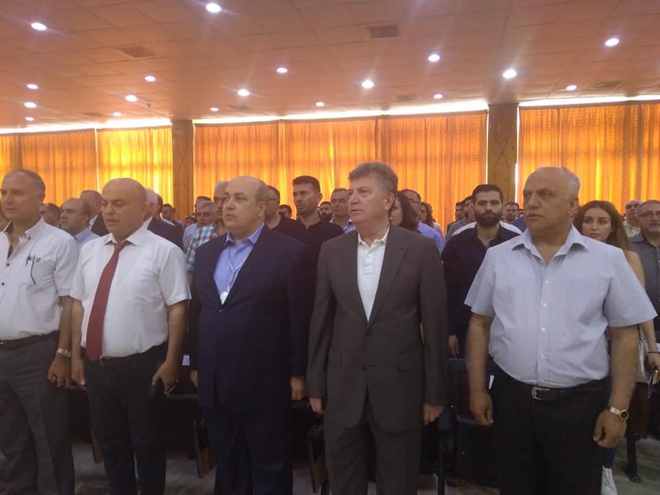 حضور مؤتمر (إعادة الإعمار في سورية بأيد وطنية) في جامعة تشرين