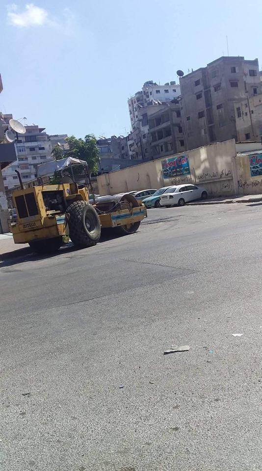 ورشات دائرة الصيانة تتابع أعمال ترميم الحفر في شوارع المدينة