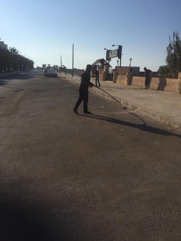 حملة نظافة في منطقة الكورنيش الجنوبي