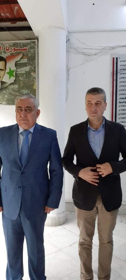 زيارة للرفيق أمين فرع حزب البعث العربي الاشتراكي