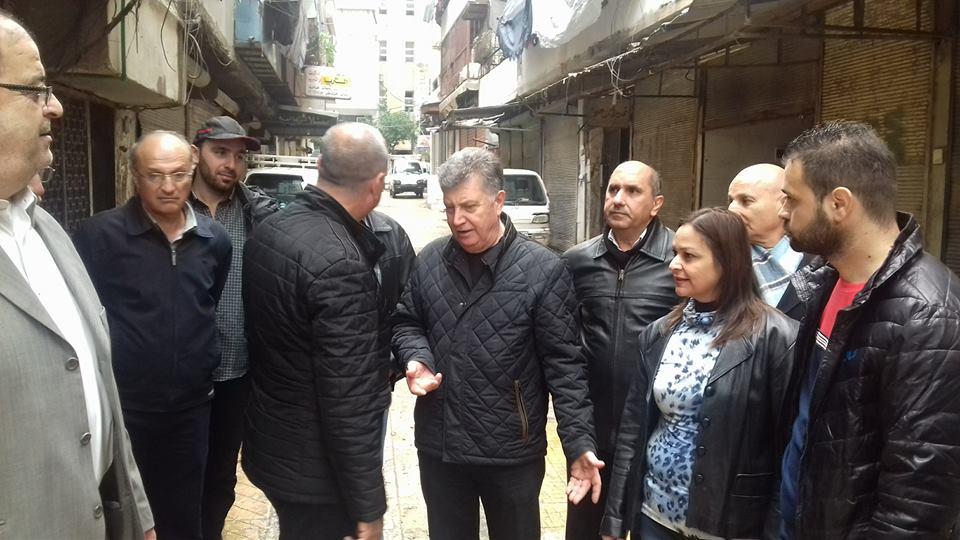 جولة لرئيس مجلس المدينة في حيي الصليبة و مشروع الصليبة