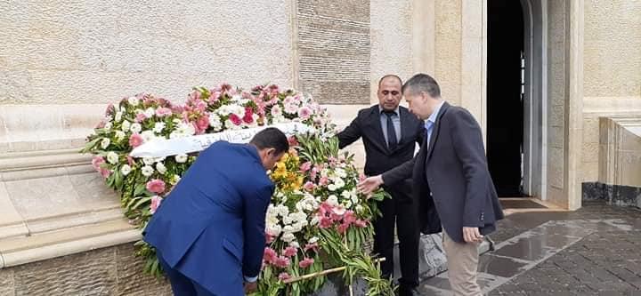 زيارة لضريح القائد الخالد حافظ الاسد في أول أيام العيد