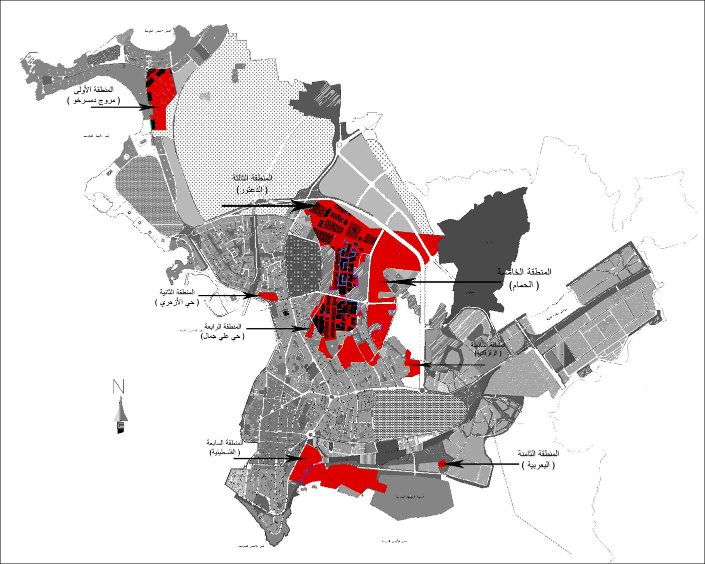 أعمال دائرة التنظيم العمراني خلال عام 2017 بما يخص مناطق المخالفات ..