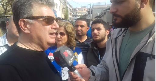 مقابلة لرئيس مجلس المدينة خلال جولته في حي الدعتور