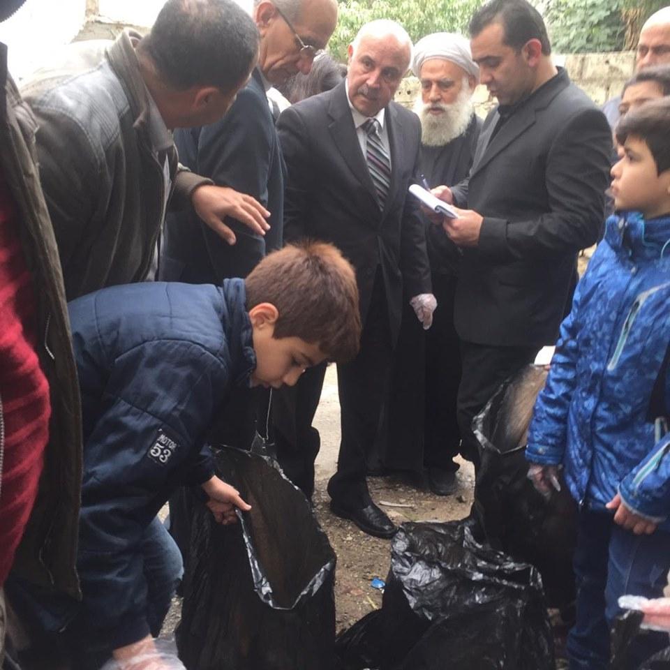 حملة نظافة في منطقة بسنادا و مشروع الزراعة